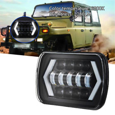 45W 5X7 Square Car Truck Headlight Working Lamp Light Hi/Lo Beam Halo Waterproof