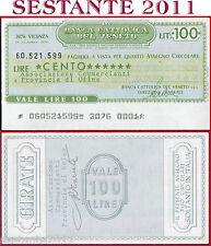 BANCA CATTOLICA DEL VENETO Lire 100 14.12. 1976 ASSOC. COMMERCIANTI  UDINE B187