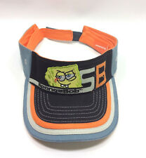 Spongebob Squarepants Visor Hat Orange Black Gray Kids Adjustable Nickelodeon
