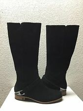 UGG CHANNING BLACK SUEDE LEATHER RIDER BOOTS US 6.5 / EU 37.5 / UK 5 - NIB