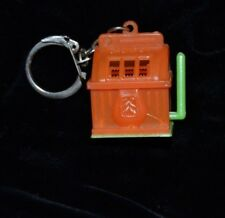 Vintage Miniature Plastic Slot Machine Keychain Hong Kong WORKS!