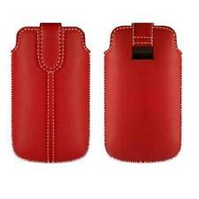 Funda HTC Desire X One C Cuero ROJA Rojo TA1