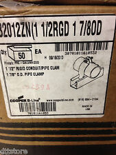 """(50) Cooper B-Line B2012ZN UniStrut Clamps for 1-1/2"""" Rigid or 1-7/8"""" OD Pipe"""