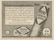 Z1055 Lama e Crema per Barba PERI - Pubblicità d'epoca - 1934 Old advertising