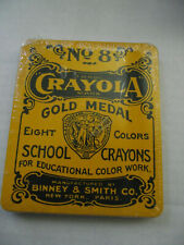 New Crayola No 8 Gold Medal School Crayons 8 Colors in Metal Tin