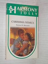 CARISSIMA NEMICA Sandra K Rhoades Harlequin Mondadori 1988 harmony jolly 468 di