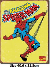 Spider - Man Retro - Marvel RUSTIC Tin Sign 1437  Large Variety - Post Discounts