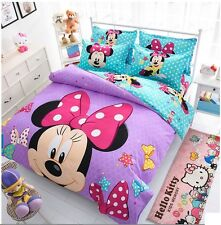 Soft cotton Minnie Mouse cover set bed sheet Bedding Set cover set New Cartton
