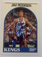 Jim Petersen Hand Signed 1989 Hoops Card Sacramento Kings