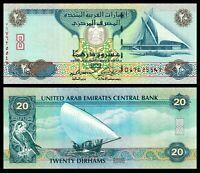UNITED ARAB EMIRATES Central Bank 20 DIRHAMS UNC * Banknote 20 AED P-28 UAE note
