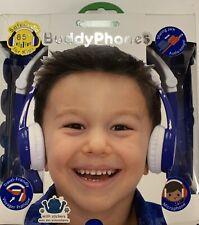 New Buddy Phones Safe Audio Blue Kids Head Phones Travel Microphone