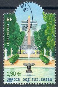 STAMP / TIMBRE FRANCE OBLITERE  N° 3673  LE JARDIN DES TUILLERIES
