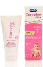 NEW Sasmar Conceive Plus Fertility Lubricant Sperm Friendly 30ml BNIB