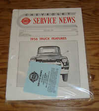 1956 Chevrolet Service News Magazines Complete Year 56 Chevy