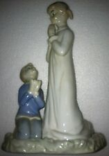 "Unknown Brand / Type: Praying Girl with Kneeling Boy Figurine (9"" x 6"" x 4"")"