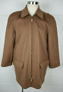 Wild About Cashmere Saks Loro Piana Storm System Coat Brown 42