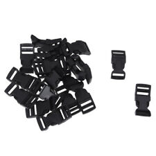 20 pcs Curved Side Release Plastic Buckles for 15 mm Webbing Straps D2S5