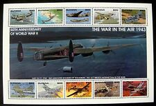 GUYANA WWII STAMPS SHT MNH 1993 50TH ANV OF WORLD WAR II FIGHTER PLANES AIRCRAFT