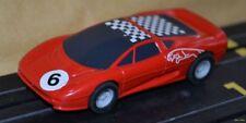 Micro Scalextric Rojo Jaguar Xj220 completamente revisadas coche
