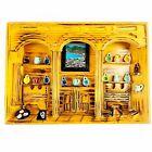 Vintage Folk Art Carved Wood 3D Diorama Shadow Box Mexican Pueblo Kitchen Mexico
