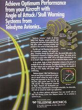 6/1992 PUB TELEDYNE AVIONICS AIRCRAFT ANGLE OF ATTACK / STALL WARNING SYSTEM AD