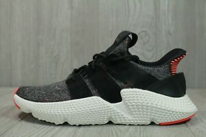 64 New Men's adidas Prophere Black Solar Red CQ3022 Knit Running Shoes Size 9.5