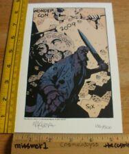 Mike Mignola Hellboy 2009 Wondercon signed print w/ sketch 136/500 RARE