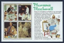NORMAN ROCKWELL US Scott #2840.  Four 50 Cent MINT NH-XF Stamps