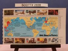 Scott # 2838 -World War Ii -1944 - Road to Victory - Pane of (10) 29 Cent Stamps