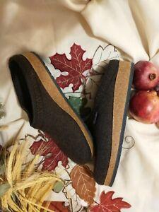 Stegman Womens Wool Felt Clogs with Cork Sole, Teak size 11/ Mens size 10