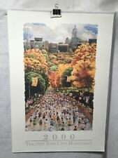 "New York City Marathon Poster /"" Skyline /"" Original Poster Nyc Wtc New Mint Rare"