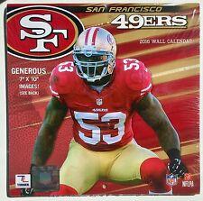 "San Francisco 49ers NFL 2016 Mini 7"" x 10"" Wall Calendar"