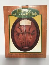 History of Golf Clubs Wall Plaque Antique Golf Clubs in 3D Wall Art with Tag