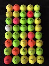 40 x Mixed COLOURED MATTE Golf Balls