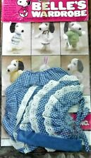 """Vintage Clothes For Snoopy Doll Belle Outfit Summer Playset Blue w/Lace Nip 10"""""""