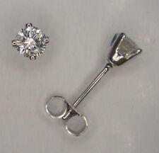 Butterfly 9 Carat White Gold Fine Earrings