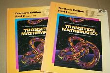 2 PC. TRANSITION MATHEMATICS TEACHER EDITION PARTS 1 & 2-UNIVERSITY OF CHICAGO