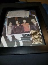 Our Lady Peace Clumsy Rare Original Radio Promo Poster Ad Framed! #2