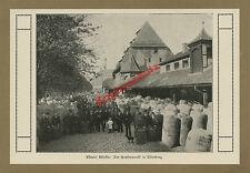 Nürnberg Kornmarkt Hopfenmarkt Händler Metzen Fruchthof Stadtwappen Franken 1912