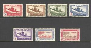 Mauritania 1942 7 values  Aircraft unissued Air MH