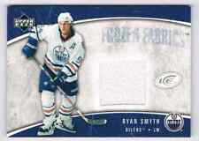 2005-06 ICE FROZEN FABRICS RYAN SMYTH JERSEY 1 COLOR EDMONTON OILERS #FF-RS