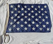 Original Cold War US Navy Ship's 50 Star 32 Inch X 47 Inch Union Jack Flag