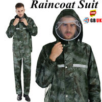 Camouflage Raincoat Camping Hiking Motorcycle Waterproof Rainwear Raincoat Suits