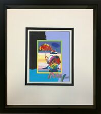 Peter Max, Umbrella Man on Blends #2980 (Framed Original Painting)