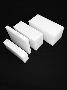 """1 1/2"""" Natural  Nylon Plastic Sheet - Price/Square Foot cut to size!"""