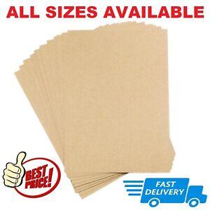 A6 A5 A4 A3 A2 Card Thick Craft Making Printer Paper Cardboard Brown Kraft Label