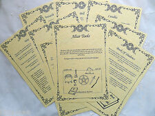 ALTAR TOOLS Set of 9 A4 Parchment Pages wicca pagan book of shadows BOS print