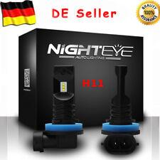 Nighteye H11 H8 H9 160W LED Nebel Scheinwerfer Birne Auto Leuchte Lampen Weiß DE