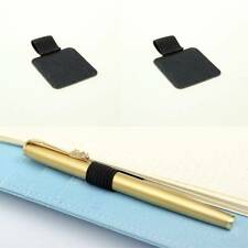 Creative Leather Pen Holder With Elastic Loop Notebooks Holder Clip Office Gifts
