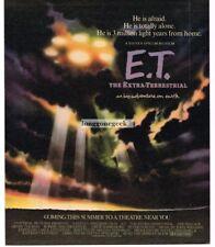 1982 E.T. THE EXRATERRESTRIAL Movie Promo Vtg Print Ad